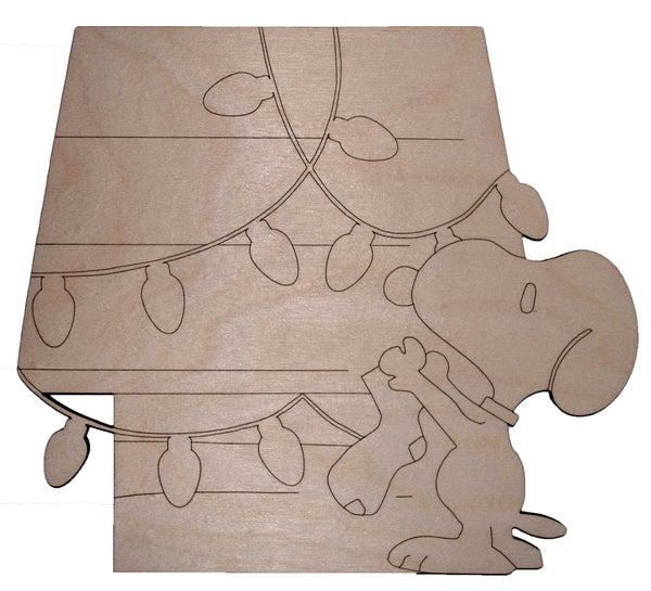 Snoopy Decorating Dog House 1 - Bucktooth Designs