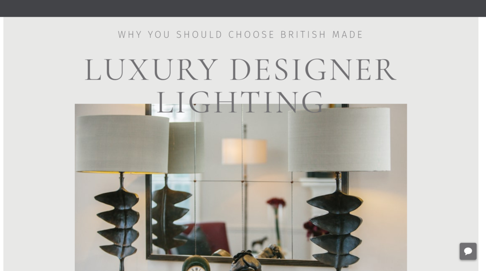 WHY YOU SHOULD CHOOSE BRITISH MADE LUXURY DESIGNER LIGHTING