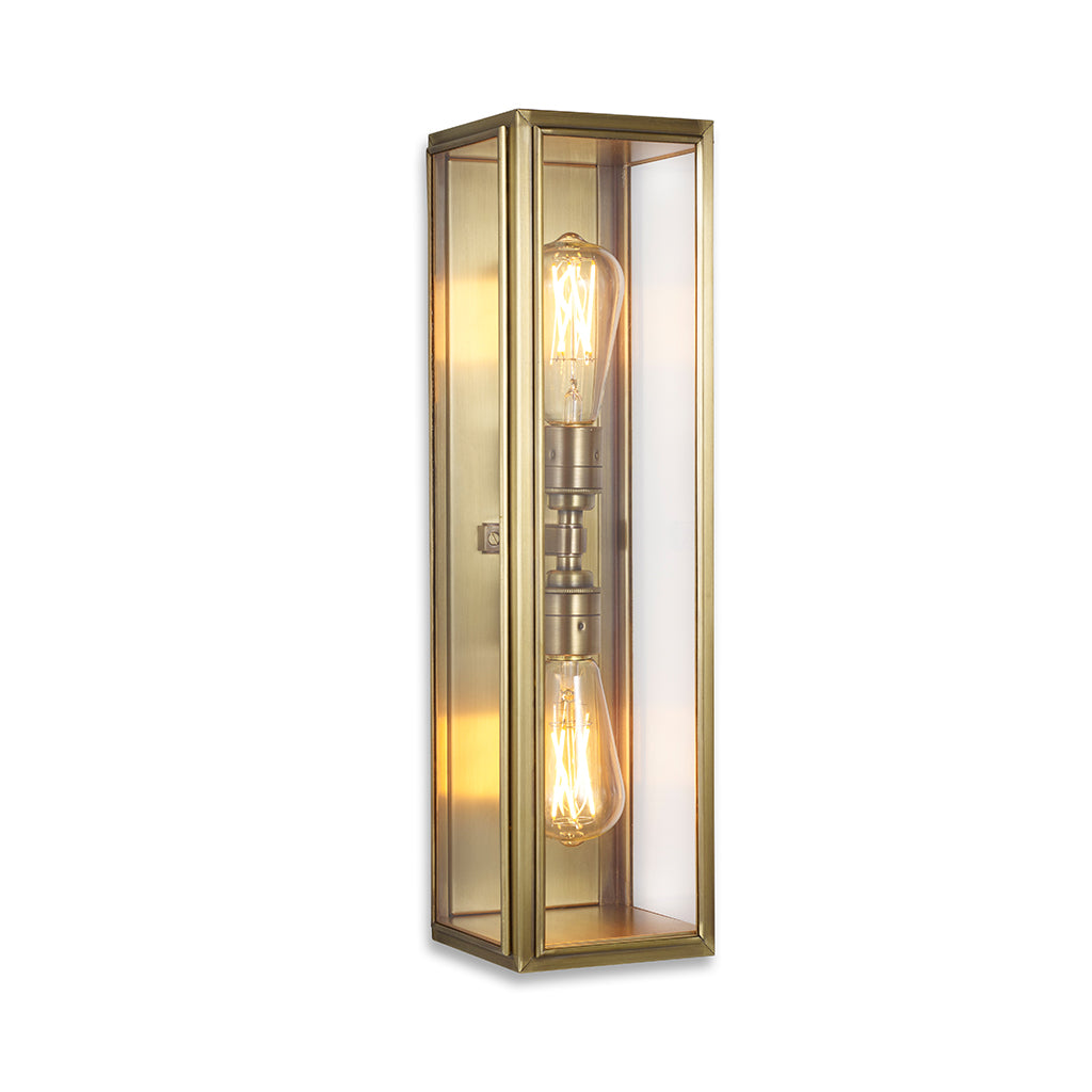 Ash Wall Lantern Light - Large (Twin Lamp)