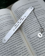Personalized grandmother, mother Bookmark, initial bookmark, book lover gift