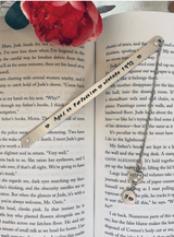 Metal Birthday Bookmark, Aged to Perfection Bookmark, Vintage Birthday Year Bookmark