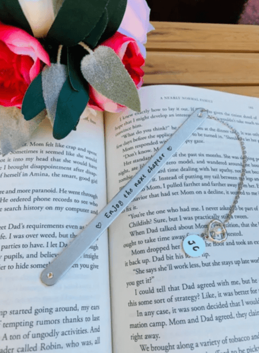 Personalized metal Bookmark