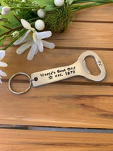 Bottle Opener Keyring, Father's Day Gift, Beer Lover Gift