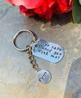 Drive Safe Keychain, Drive Safe I Need You With Me Keychain , Personalized Keychain Driver Gift,