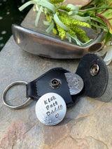 Golf Ball Marker with Keyring Personalized