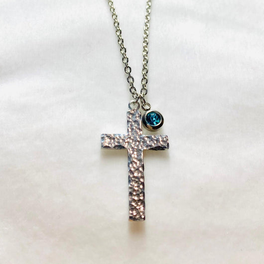 Birthstones Cross Necklace