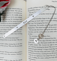 Personalized metal bookmark, quote bookmark initials bookmark, phrase bookmark