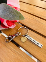 Housewarming Gift, New Home Gift , Where the heart is keyring, House Keys Keyring