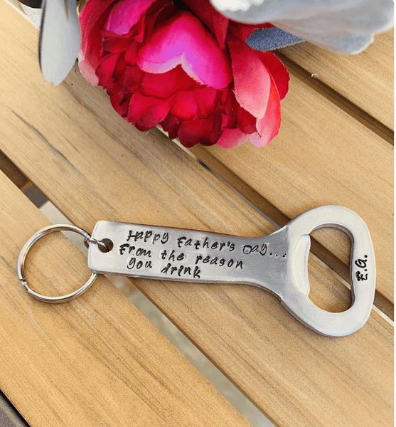 Personalized bottle opener keyring, Custom bottle opener keyring.