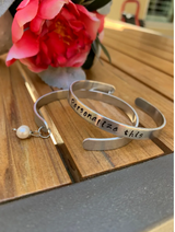 Personalized quote cuff bracelet, name bracelet
