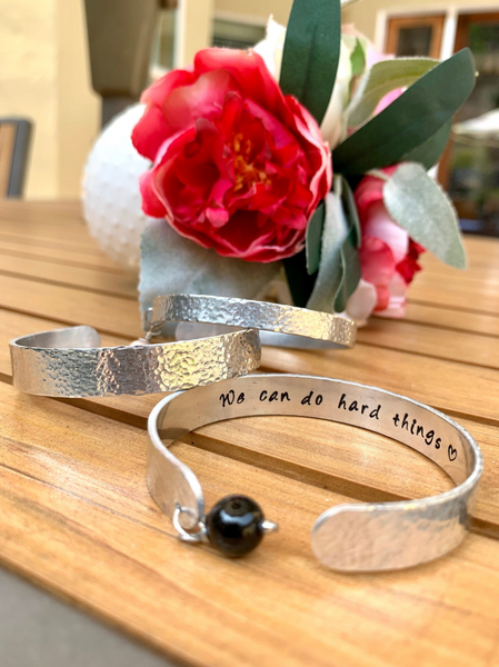 Secret hidden Message bracelet, Friendship metal personalized