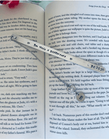 Personalized Metal Teacher Appreciation Bookmark, Teacher Thank You Gift