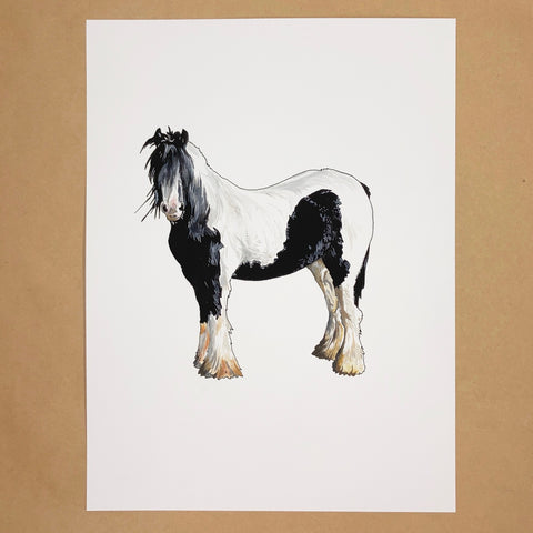 Original Clydesdale Horse Painting
