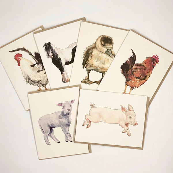 Farm Animals 6 Card Set