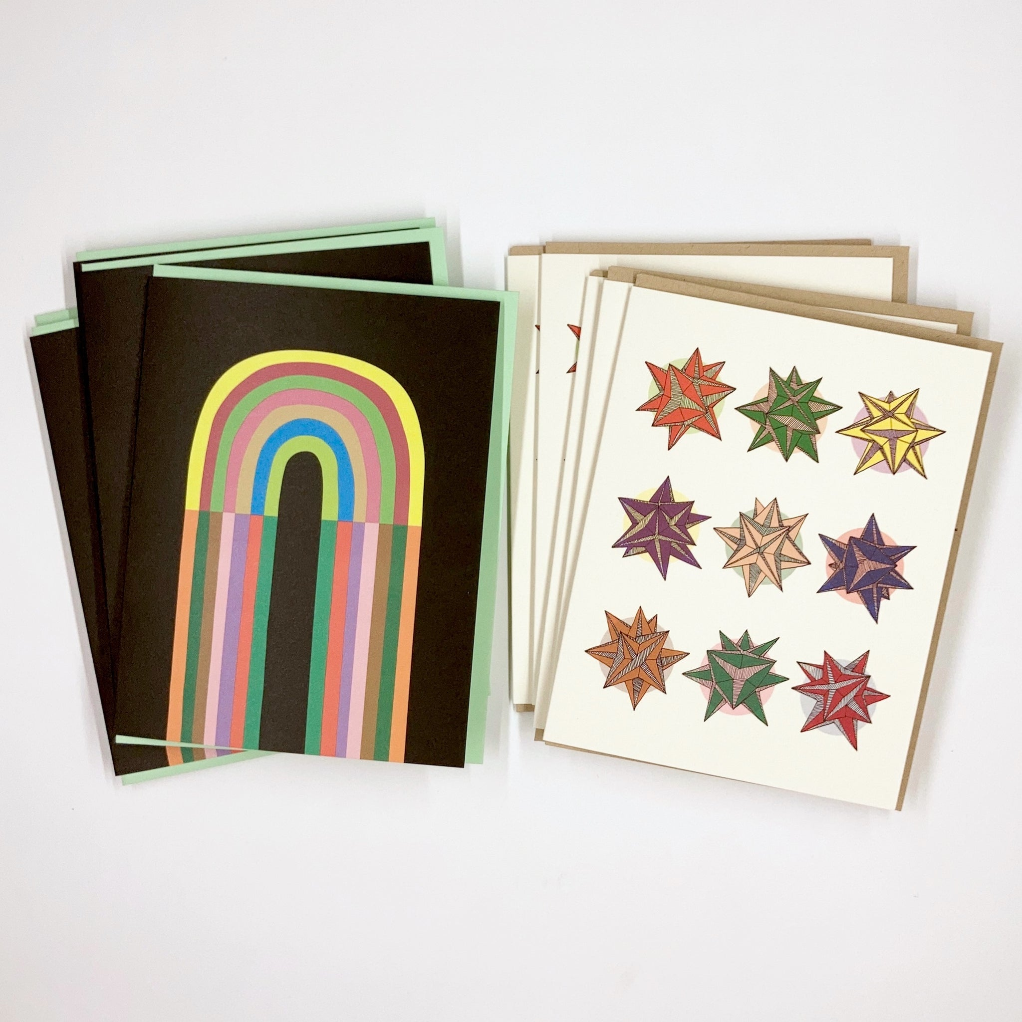 Stars & Rainbows 10 Card Set