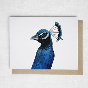 Peacock Head Card