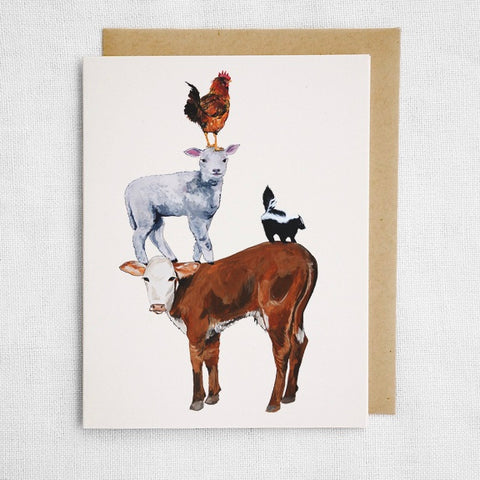 Pile of Animals Card
