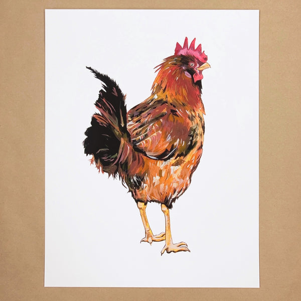 Red Rooster Print