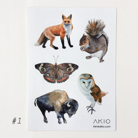Animal Sticker Sheet #1