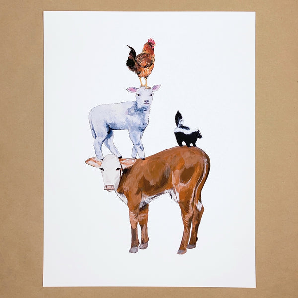 Pile of Animals Print