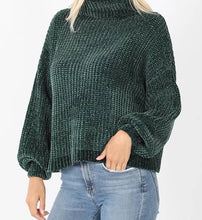 Load image into Gallery viewer, Green Women's Sweater, Comfy Sweater