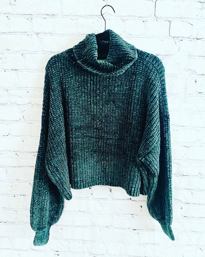 Green Women's Sweater, Comfy Sweater