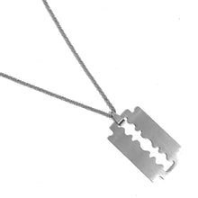 Load image into Gallery viewer, ORIGINAL RAZOR BLADE PENDANT NECKLACE