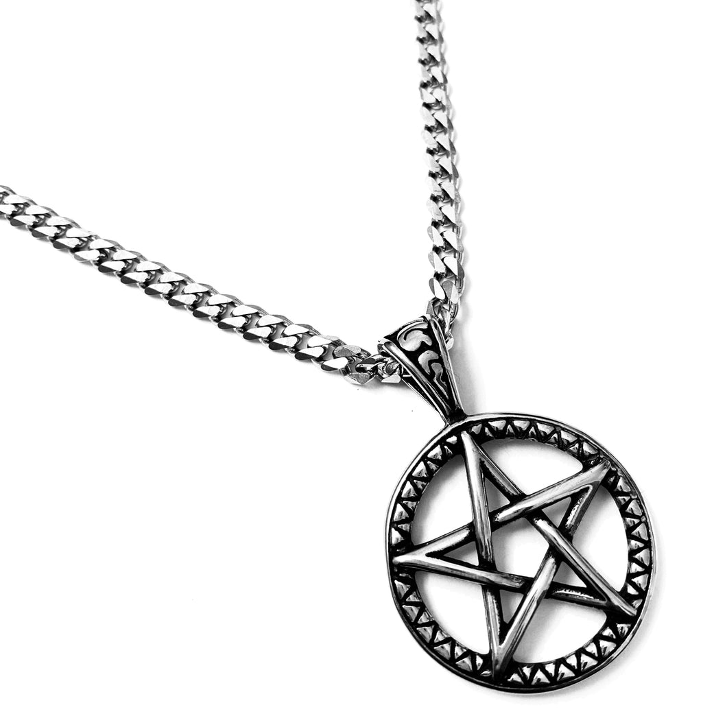 5-POINTED STAR PENTAGRAM PENDANT CHOKER NECKLACE