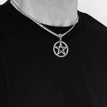 Load image into Gallery viewer, 5-POINTED STAR PENTAGRAM PENDANT CHOKER NECKLACE