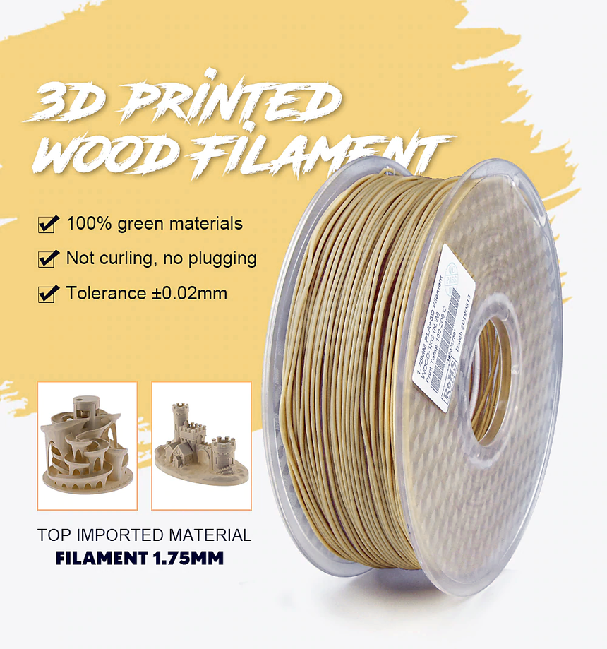 Wood Fill PLA+ Filament 1.75mm 1Kg - ideagen3D