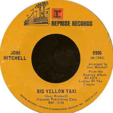 The Fox & Bean Blogpost - Clearing Out - Joni Mitchell Big Yellow Taxi Image