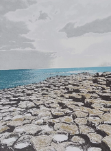 Load image into Gallery viewer, Giant's Causeway Screenprint - Fionnuala O'Neill