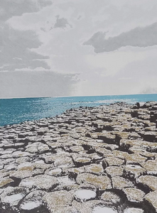 Giant's Causeway Screenprint - Fionnuala O'Neill