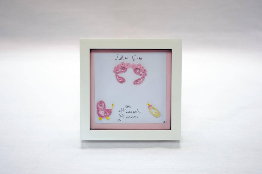 Baby Girl Frame - Cookie's Crafts