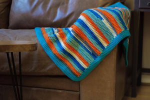 Blue Stripes Baby Blanket by Flutterbys and Pretticoats