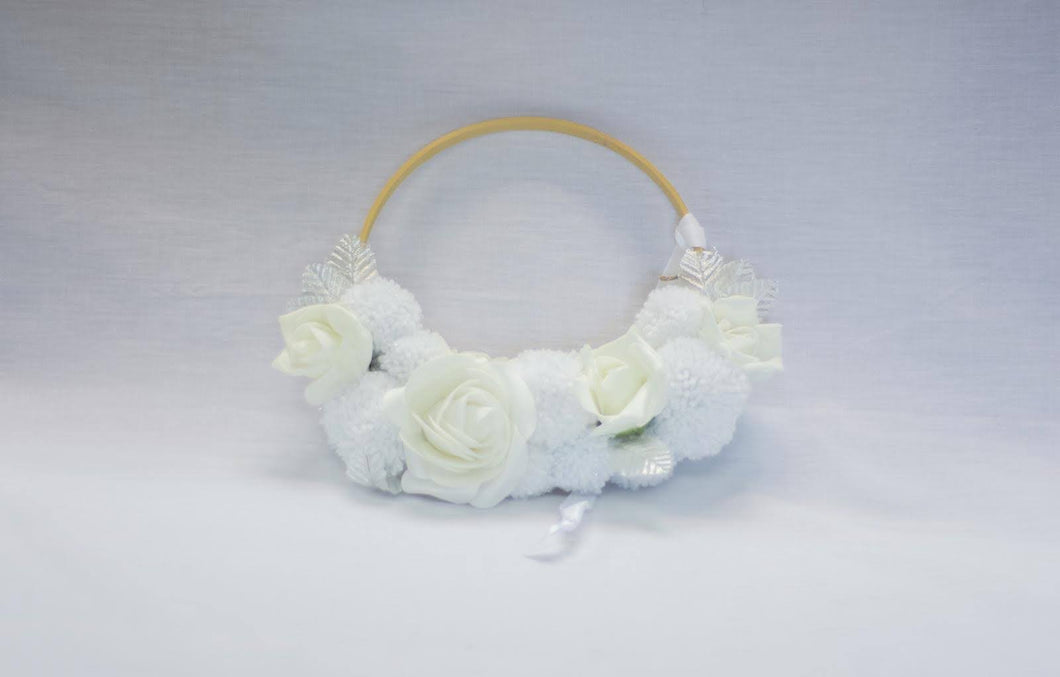 Soft Chimes Pompom Hoop Band - Enchanted Rose