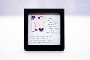 Nanny Letter Frame - Cookie's Crafts