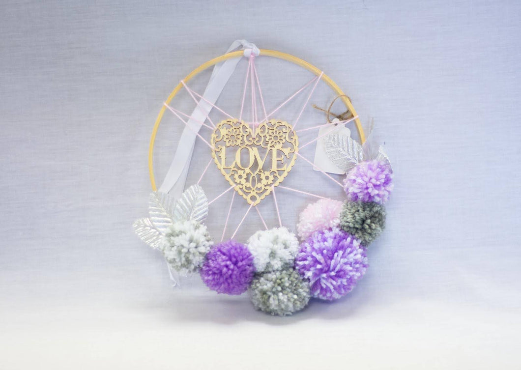 Love Dreamcatcher Pompom Hoop Band - Enchanted Rose
