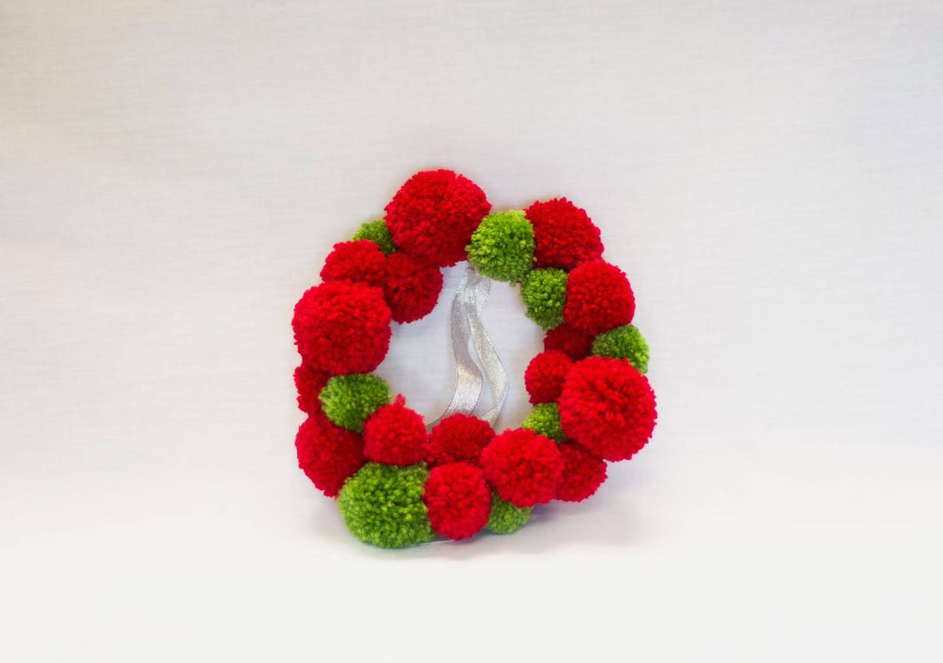 Merry & Bright Pompom Hoop Band - Enchanted Rose