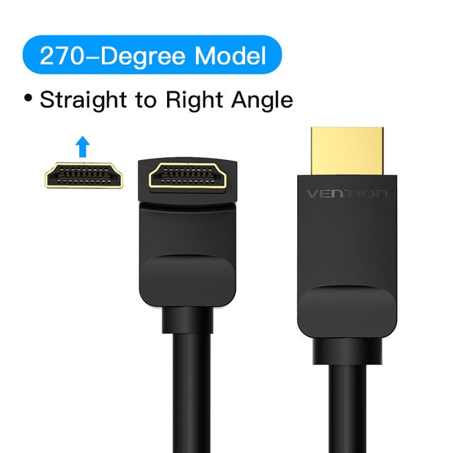 Vention HDMI Cable 4K HDMI 2.0 Cable (90°/270°) Cables - Blck Box Tech