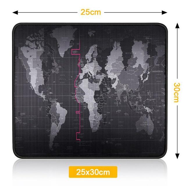 Iahead World Map Gaming Mouse Pad Mouse Pad - Blck Box Tech