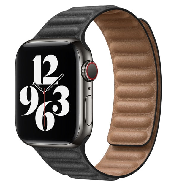 Hellary Leather Link Strap for Apple watch Straps/Bands - Blck Box Tech
