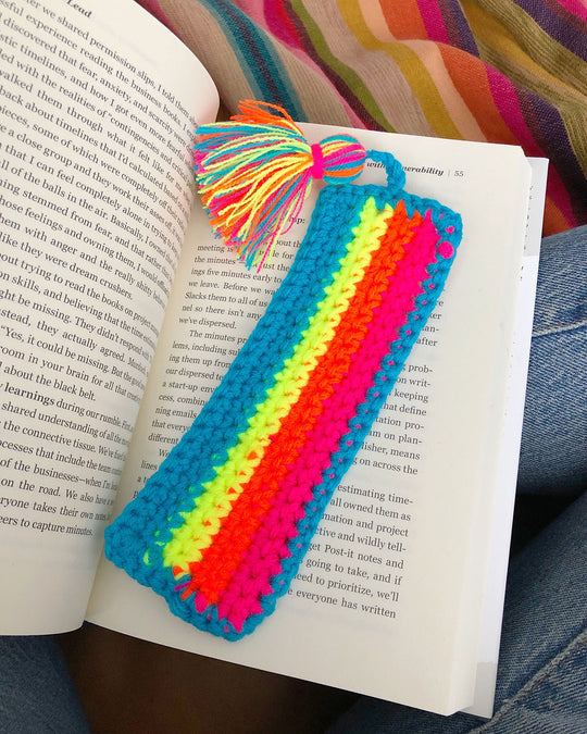 DIY Striped Crochet Bookmark