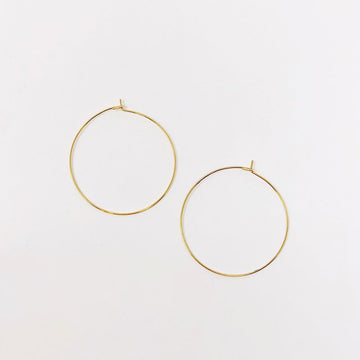 Hoop Earrings, 1 3/8
