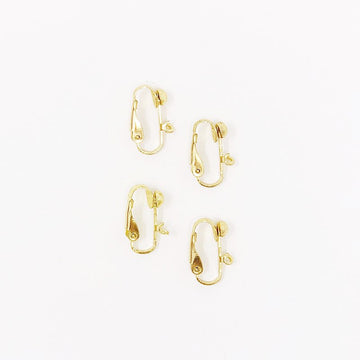 Gold-Tone Earring Clips (4 pcs)