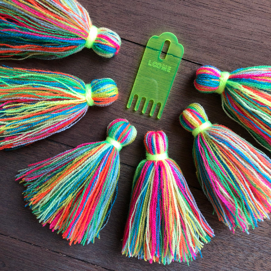 Loome Tassel Comb The Neon Tea Party