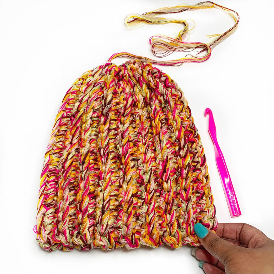 High Line Beanie Crochet Pattern by Stitch'D Factory