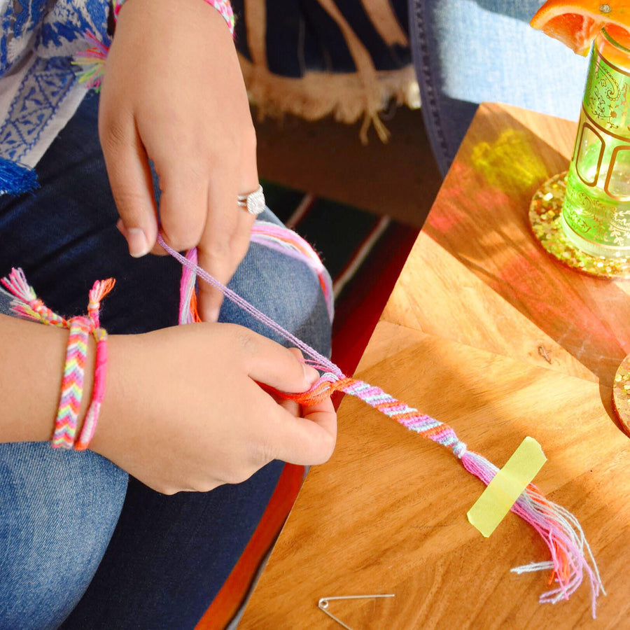The Neon Tea Party Friendship Bracelets Workshop