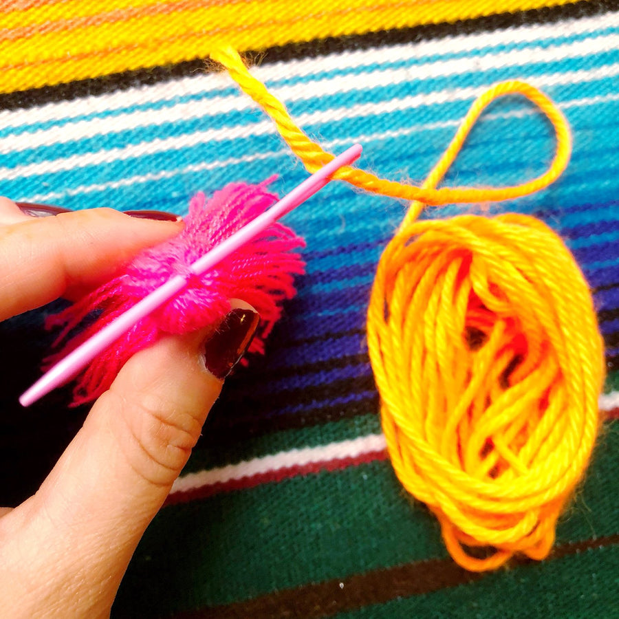 The Neon Tea Party Yarn Needle Use 4