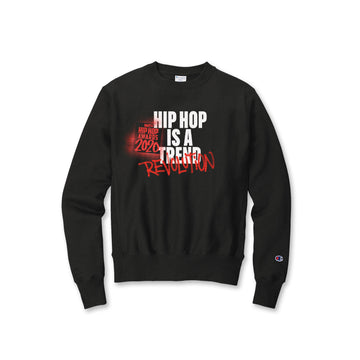 Hip Hop Is A Revolution Black Champion Crewneck